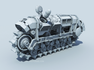 Treads FinalBoss Metal Slug, VrayToon,3dmax