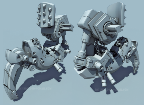 Arm FinalBoss Metal Slug, VrayToon,3dmax
