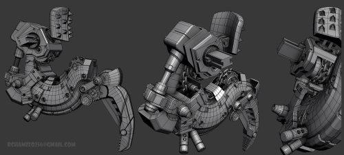 3dmax, wireframe, viewport Final Boss arm, wireframe, viewport, 3dmax