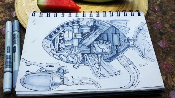 Dieselpunk Spy Fish