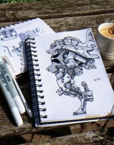 Napkin sketch+greymarkers
